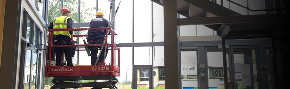 mobile tower access internal and external window cleaning